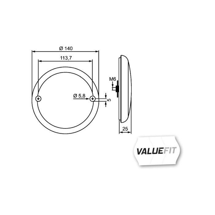 Valuefit LED HELLA 2NR 357 026-251 Heckleuchte
